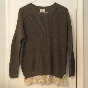 Urban Outfitters knit sweater with lace trim